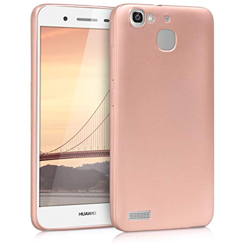 kwmobile Huawei GR3 / P8 Lite SMART Hülle - Handyhülle für Huawei GR3 / P8 Lite SMART - Handy Case in Metallic Rosegold