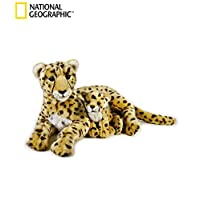 National Geographics 8004332707653 Lelly Cheetah with Baby (Ngs), Natural