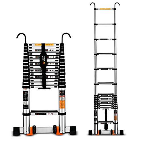 Teleskop Zusammenlegbar Leiter,aluminium-legierung Leiter Erweiterung Leiter Multi-zweck Treppenleiter Portable Mit Haken Anti-slip Leiter-a2 5.9m (Portable Storage-schuppen)