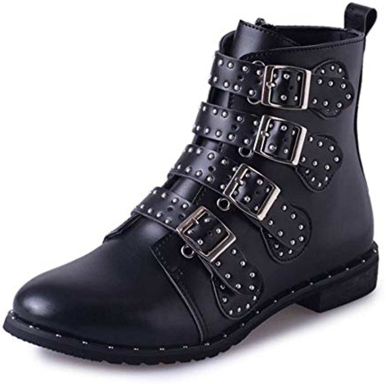 91214506a32f51 gunaindmx automne hiver bottes pour pour pour femmes boucle sangle zipper  bloc bottines rivet punk talon de chaussures...b07hl7dbjw parent | Exquise  (in) De ...
