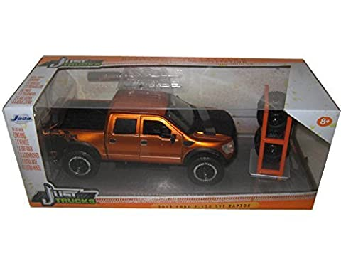 2011 Ford F-150 SVT Raptor Pickup Truck Copper Just Trucks with Extra Wheels 1/24 by Jada 97192 by