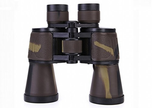 WY Fernglas 20X50 Leichtes Tragbares Teleskop-Reise-Außen-Teleskop Hd,Braun,195 * 185 * 70mm