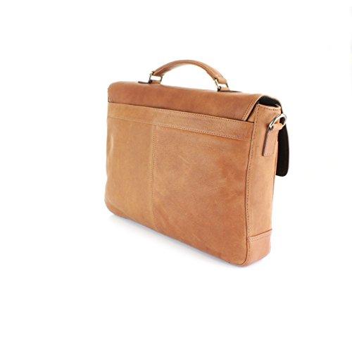 Holkham Moulue en cuir véritable Sac Bandoulière, équalisateur, compatible avec 33cm pour ordinateur portable peau