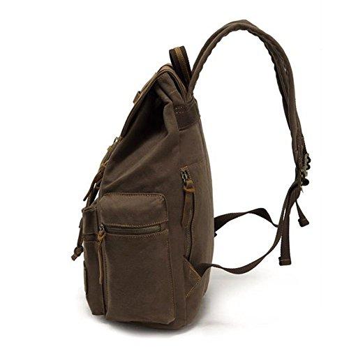 Imagen de koolehaoda vintage canvas bolsos/  viajes senderismo camping  senderismo bolsa de viaje laptop  bolso  escolar para outdoor sports tiempo libre, verde del ejército  alternativa