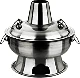yoaxia ® - [ Ø 34cm / 2.8 Liter ] HOT POT Topf/THE FIRE POT/Feuertopf / Fondue/Shabu Shabu
