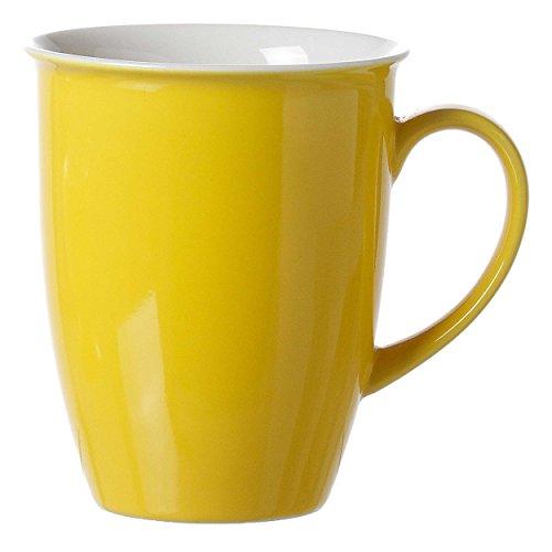 Ritzenhoff & Breker Doppio Kaffeebecher, Kaffee Becher, Tasse, Geschirr, Porzellan, Sonnengelb, 320 ml, 565003