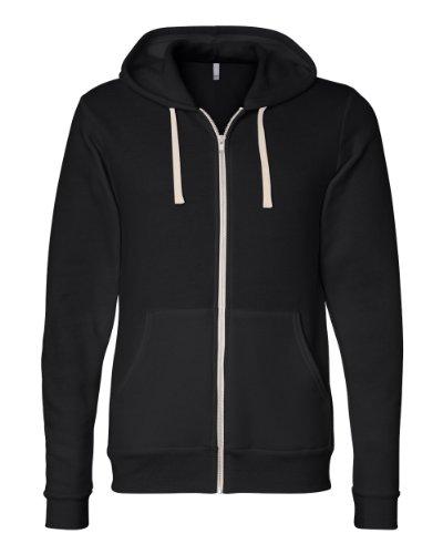 Unisex Triblend Full Zip Hoodie - Farbe: Solid Black Triblend - Größe: M (Unisex T-shirt Solid)