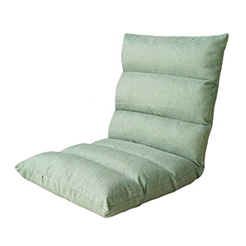 Willsego sedia da terra regolazione a 6 posizioni pieghevole lazy lounge divano schienale chaise gaming divano tempo libero (colore opzionale) (colore: grigio) (colore : menta verde, dimensione : -)