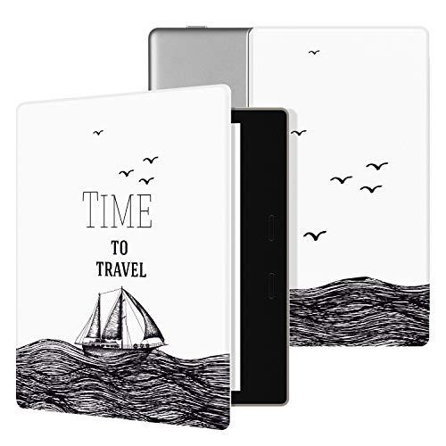 "Ayotu Hülle für Kindle Oasis 7 Zoll(9th Gen.- 2017 Modell) eReader-Lightweight Schutzhülle Smart Case Cover mit Auto Sleep-/Wake-Funktion für Amazon 7\"" Kindle Oasis 2017 KO-01 The Time to Travel"