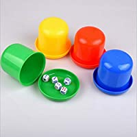 SELUXU Set Of Mini Professional Dice Roller Cups Tray Thickening with Bottom Of Sieve Cup for Bars or Clubs 5 Dices
