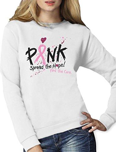 Pink -Diffuser l'Espoir,trouver le remède -Cancer Sweatshirt Femme Blanc