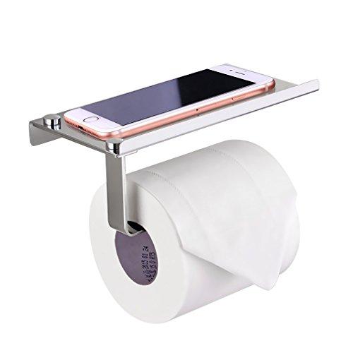 Bonade Toilettenpapierhalter mit Ablage, Edelstahl, Silber