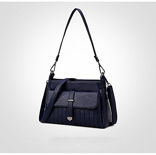 art und Weise Weibliche Schulter diagonale paketdamen kleine quadratische tasche Blau