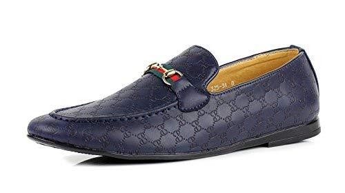 Jas dettagli about da uomo mocassini casual mocassini italiano alla moda scarpe ecopelle misure uk - navy, 43