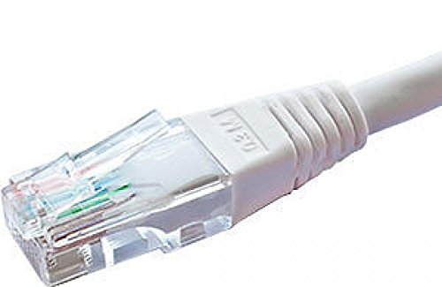 Netzwerkkabel Cat6 U/UTP 24 AWG Flush Moulded RJ45 Stecker Patchkabel weiß 20 m -