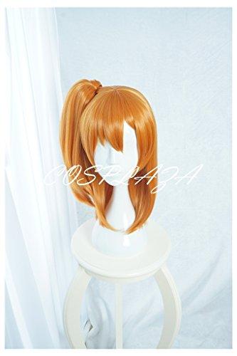 COSPLAZA Perücken Cosplay Wig Fasching Perücke Mittlerer Länge Pony Orange Anime Haar (Honoka Kostüme)