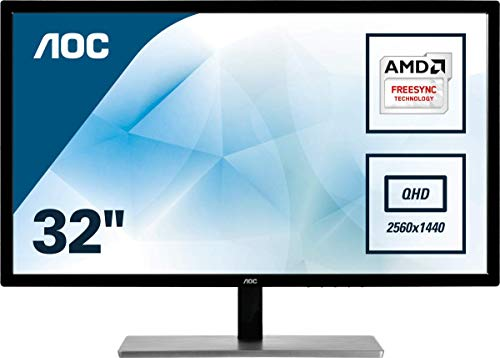 """AOC Q3279VWF Monitor per PC Desktop da 32"""",  Risoluzione QHD (2560x1440), Nero"""