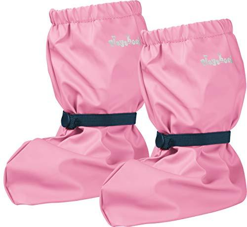 Playshoes Baby , leichte Krabbel-Schuhe für Jungen und Mädchen, mit Playshoes-Motiv, Pink (rosa 14), S