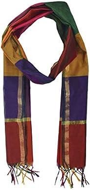 Abdul salam and sons Women's Woven Design Cotton Silk Dupatta (ABS35_Multicolored_Free S