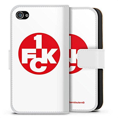 Apple iPhone X Silikon Hülle Case Schutzhülle 1. FC Kaiserslautern Fanartikel Bundesliga Sideflip Tasche weiß