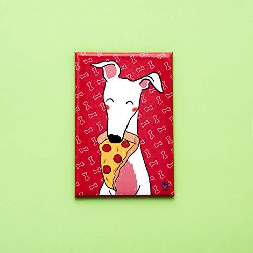 Imán decorativo galgo nevera pizza - El galgo azul