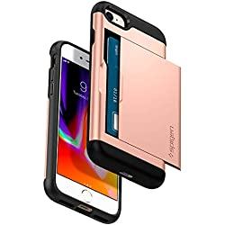 Spigen Etui iPhone 8, Coque iPhone 7/8, [Slim Armor CS] Slim Fit Protection Double Couche [Blush Gold] Fente pour Carte/Coque Etui Housse pour iPhone 7 (2016) / iPhone 8 (2017) - (054CS22570)