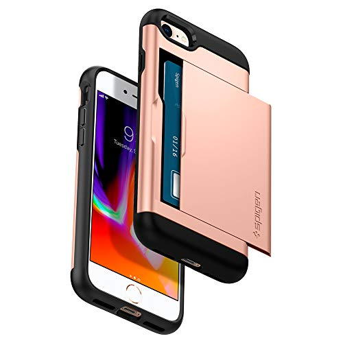 Spigen Etui iPhone 8, Coque iPhone 7/8, [Slim Armor CS] Slim Fit Protection Double Couche [Blush Gold] Fente pour Carte/Coque Etui Housse pour iPhone 7 (2016) / iPhone 8 (2017) - (054CS22570)
