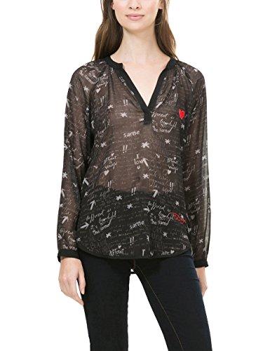 Desigual BLUS_LINA, Camicia Donna, Nero (Negro 2000), 38 (Taglia Produttore: L)