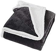 Time2sleep Manta de sherpa reversible y manta para sofá (180 cm x 200 cm), perfecta como manta de sofá, manta