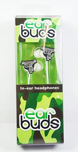 Ohrstöpsel, In-Kopfhörer (UZI geformt Ohrhörer, Toy Gun, Jungen Favourite) ipod und iphone kompatibel, Kabellänge 120 cm, Stecker Typ 3,5 mm stereo Gewehr-ohr-stecker