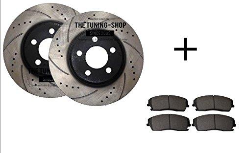 Vorne Bremsscheiben Rotoren Durchmesser 320mm gebohrt & Schlitz 53022+ 1056CBK Bremsbeläge Vorne (Charger Dodge Awd)