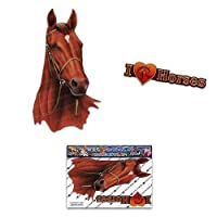 Horse Brown Animal Car Stickers Decals - ST00052BR_SML - JAS Stickers