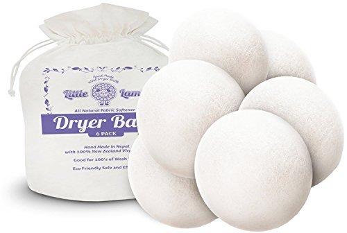 Little Lamb Wool Dryer Balls, 6 Pack by Little Lamb Dancing Buddhas