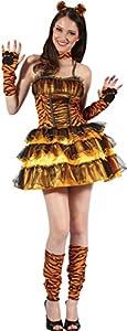 Reír Y Confeti - Fiasex010 - Para Disfraces para Adultos - Vestido Sexy Tiger