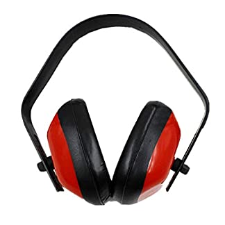 Orejeras de protección auditiva profesionales para tiro Caza Reducción de ruido para dormir Protección auditiva Orejeras para auriculares – Rojo y negro