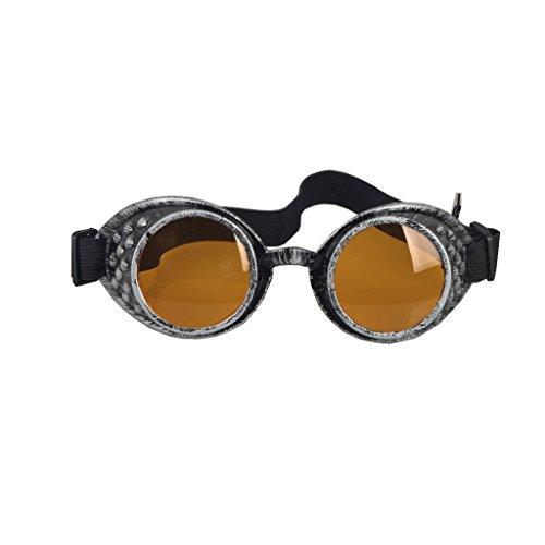 DODOING Weinlese-Art Steampunk Goggles Welding Punk Vintage Brille Cosplay