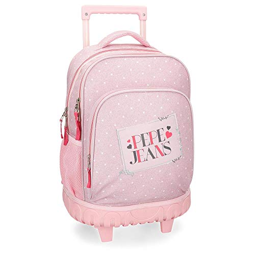 Pepe Jeans Olaia Pink Rolling Backpack 2W