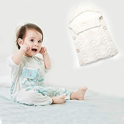 Saco de dormir para bebés recién nacidos Fibras de acrílico Sudaderas con capucha Swaddle Wrap Grueso cálido bebé Estera de dormir Manta Swaddling Sweater