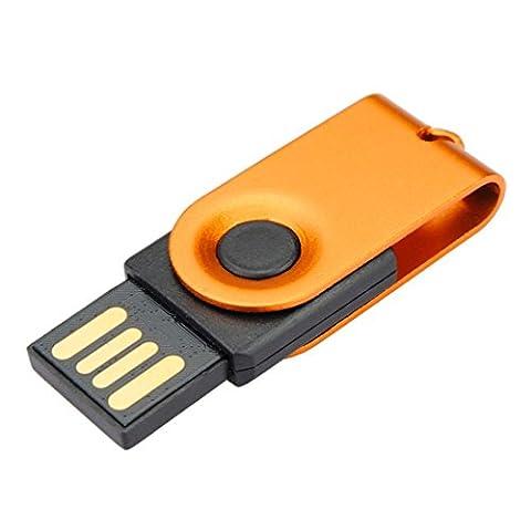 Baishitop 64Go les lecteurs Flash USB 2.0Mini disque résistant à l'eau U en Orange