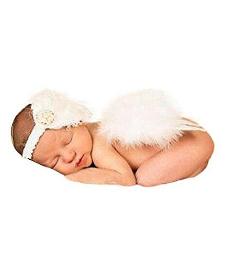 Jastore® Foto Prop Baby Kostüm Engelsflügel Stricken Flügel Häkelarbeit Kostüm für Kinder (A)