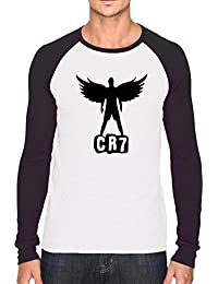 Bookmytees Cristiano Ronaldo Fan Art Printed Full Sleeves Cotton T-shirt For Men