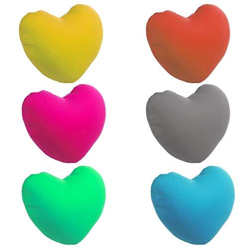 Kissen in Herz Mikroperlen–31x 26cm, zufällige Farbauswahl