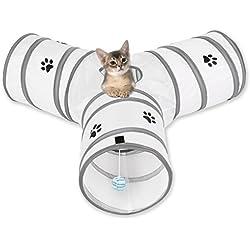 Mascota Gato Túnel,OUTAD Juguetes para Mascotas,3 Caminos Plegable Túnel para gatos,Perros,Conejos