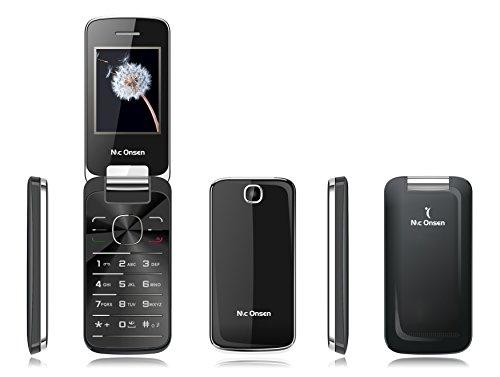 Mc Onsen Fashion Flip, Móvil con tapa, Dual-SIM, 32 MB, negro