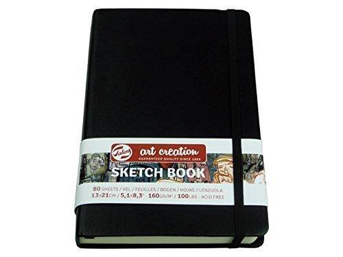 Skizzenbuch schwarz, Sketch Book, 80 Blatt, 21x29,7 cm gebunden