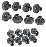 Roulettes Lave-vaisselle - Set Universel Complet de Roues pour Panier Supérieur et Inférieur - Zanussi, AEG, Electrolux, Ikea