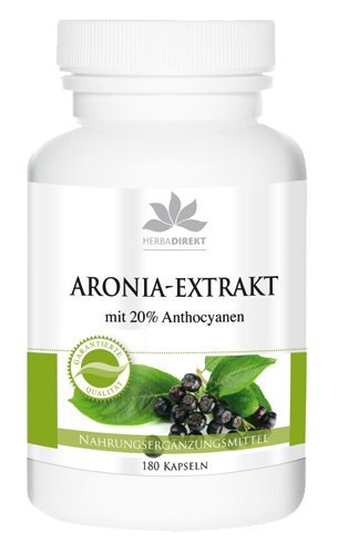 Extracto de Aronia - herba direkt - 180 Cápsulas - Producto vegetariano