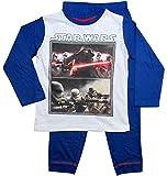 Star Wars Pyjama Kollektion 2017 Lang 104 110 116 122 128 134 140 146 Jungen Kylo Ren Sturmtruppler Schlafanzug Stormtrooper Weiß-Blau (Blau-Weiß, 128-134)