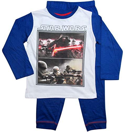 Star Wars Pyjama Kollektion 2017 Lang 104 110 116 122 128 134 140 146 Jungen Kylo Ren Sturmtruppler Schlafanzug Stormtrooper Weiß-Blau (Blau-Weiß, 104-110)