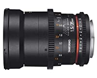Samyang F1312909101 - Objetivo para vídeo VDSLR para Micro Cuatro Tercio...